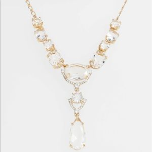 crystal cascade mini necklace